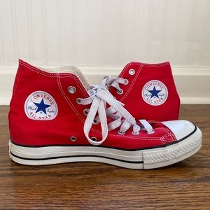 Classic Red Converse All Star Hightops